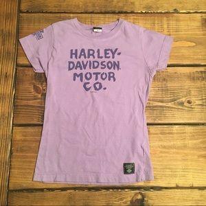 Harley Davidson Museum Purple Short Sleeve T-Shirt